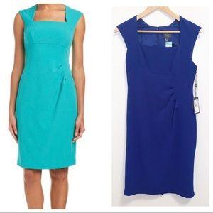 Adrianna Papell Bolero Colbat Blue Sheath Dress